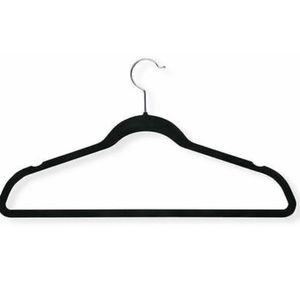 black velvet hangers [set of 10]